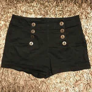 Black Express Shorts high rise size 8